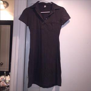 American  Apparel Charcoal Cotton Dress